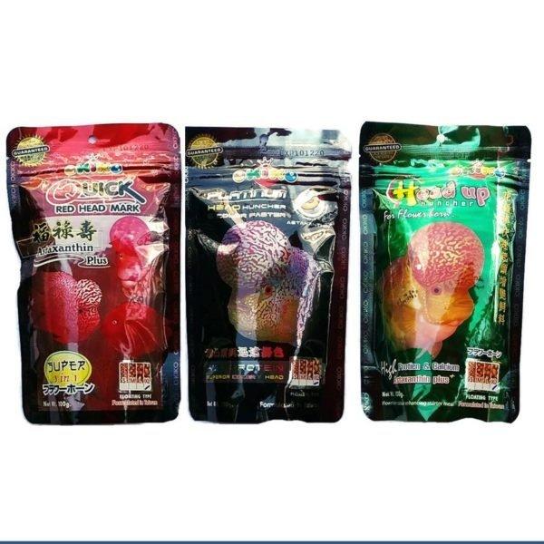 Okiko Cichlid Flowerhorn Fish Food Head Up Hunch Platinum ...